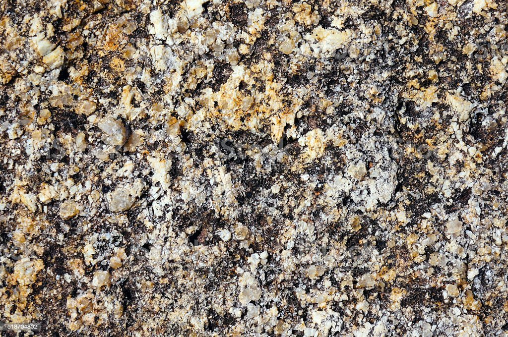 surface texture of granite fragments stock photo