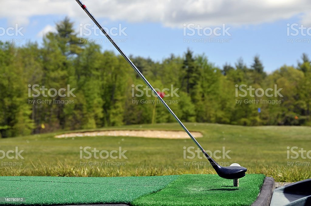 Surface View, at the Driving Range royalty-free stock photo