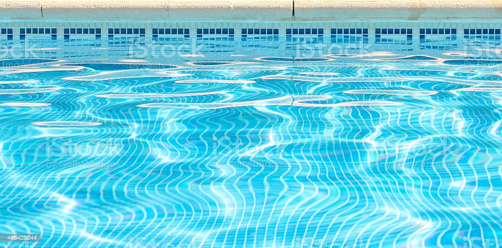 Surface water at the top of a swimming pool royalty-free stock photo