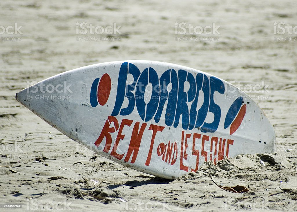 Surfboad rentals royalty-free stock photo
