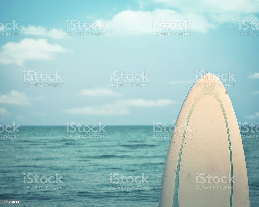 Surfboard. Dead calm stock photo