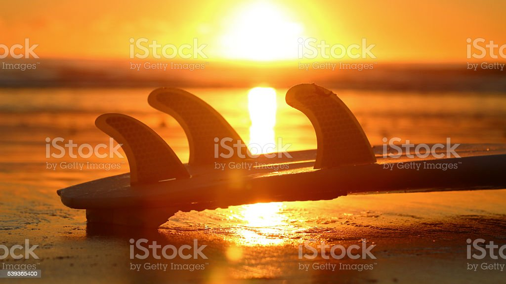 Surfboard fins stock photo