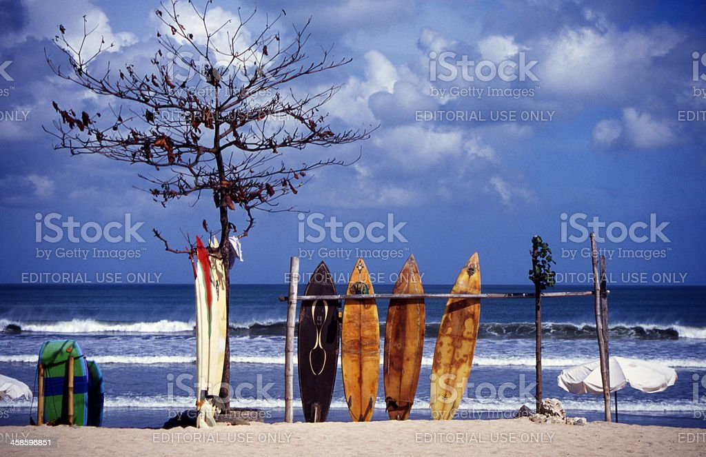 Surfboard Hire Bali stock photo
