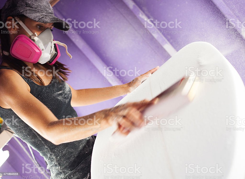 surfboard shaper stock photo