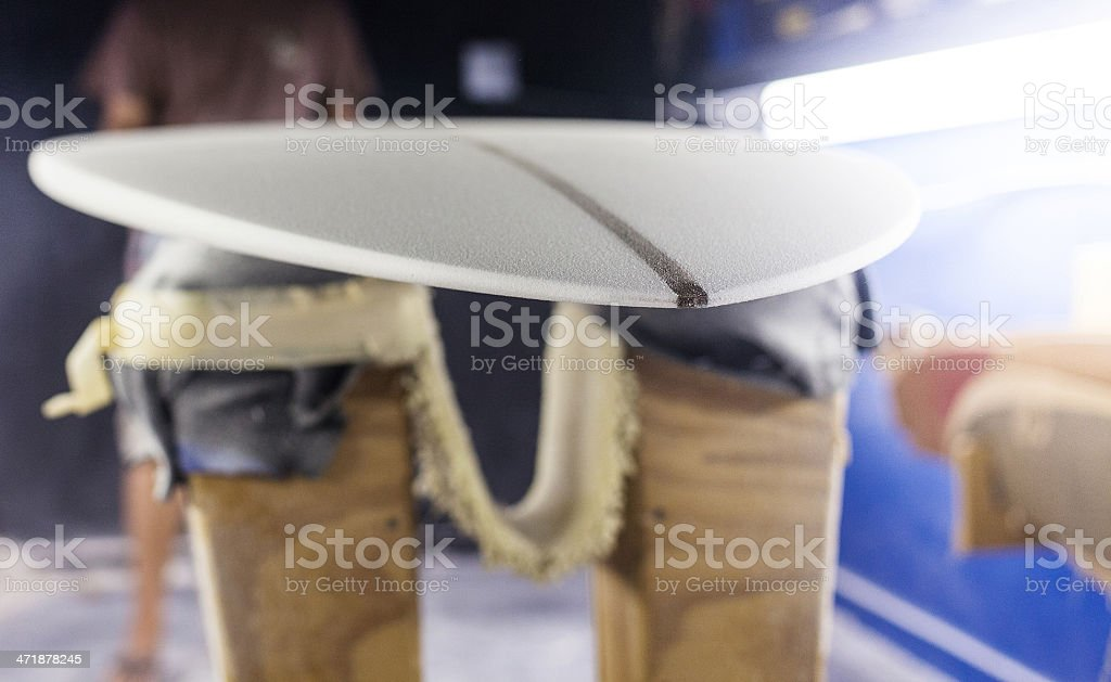 surfboard shaping stock photo