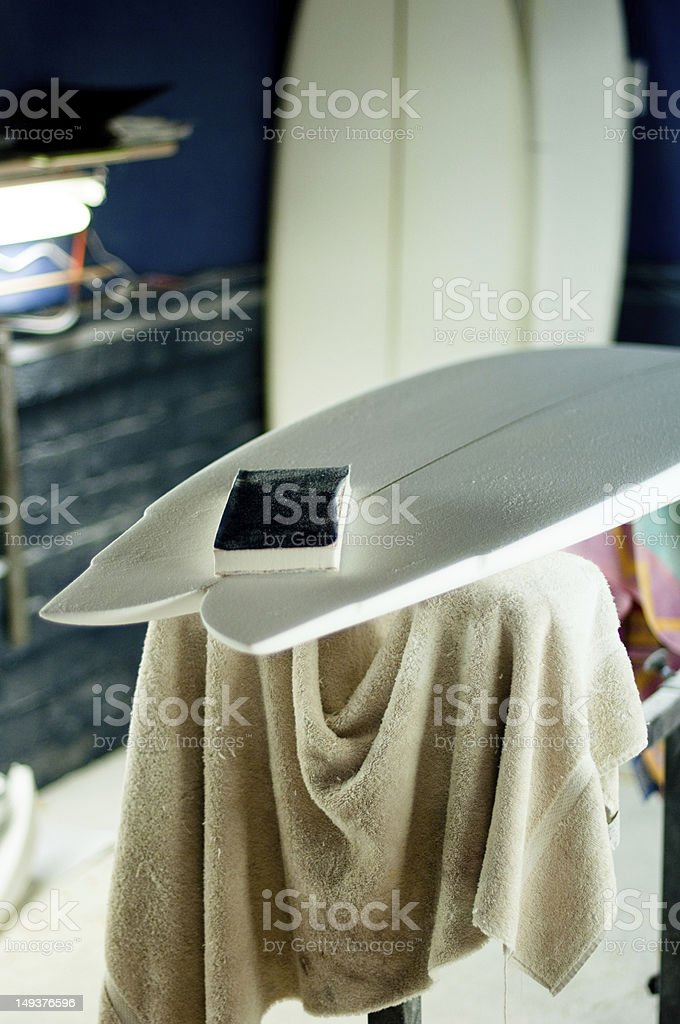 Surfboard Shaping Room stock photo