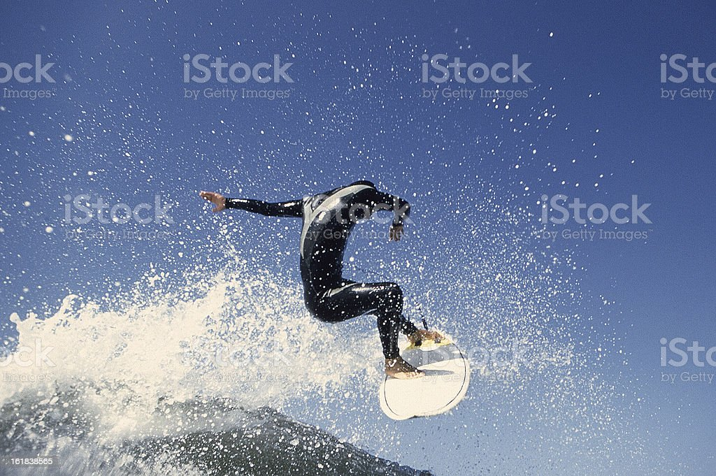 Surfer Air stock photo