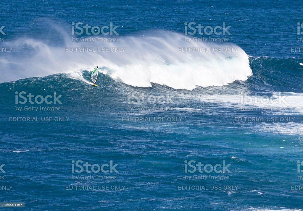 Surfer At Peʻahi, Maui royalty-free stock photo