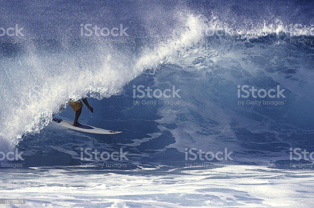 surfer barrel royalty-free stock photo