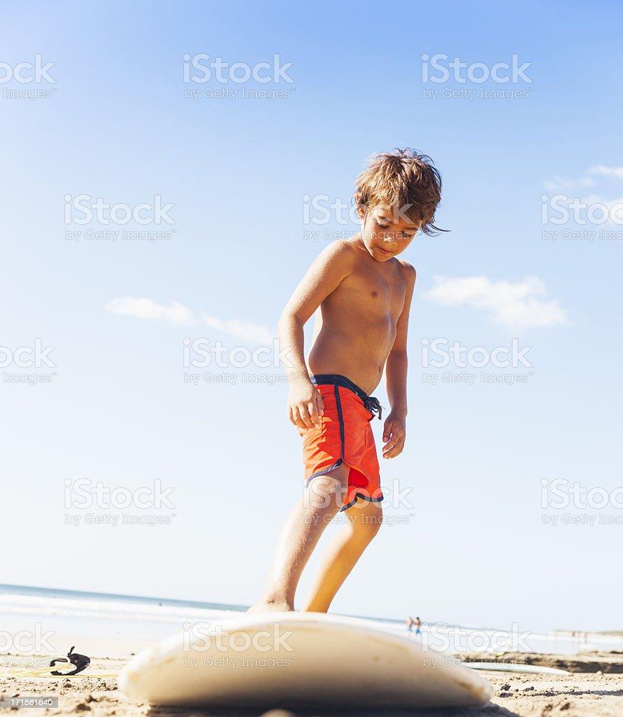 Surfer boy royalty-free stock photo