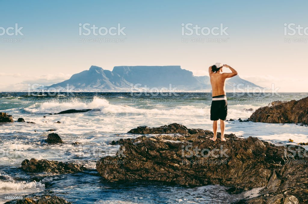 Surfer Cape Town South Africa stock photo