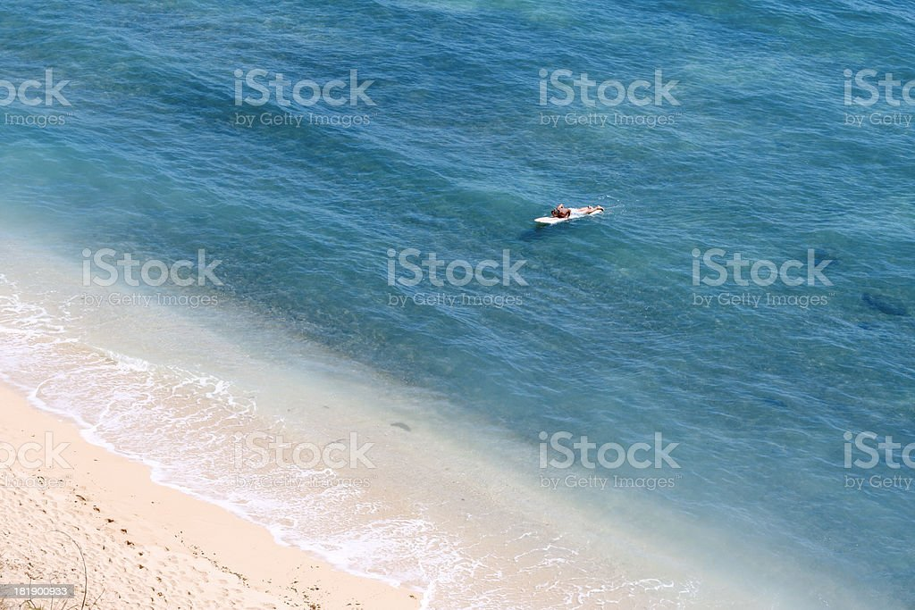 Surfer coming in stock photo