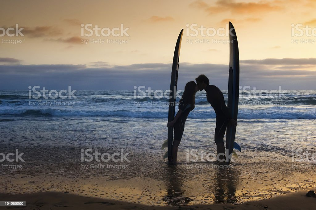 Surfer Couple royalty-free stock photo
