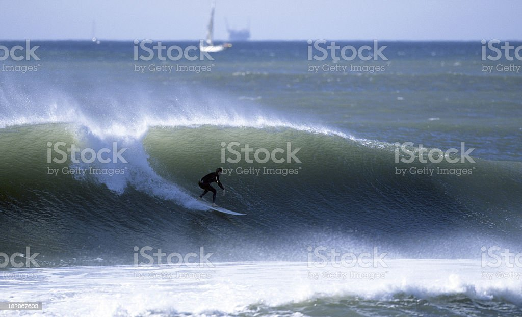 surfer drops in royalty-free stock photo