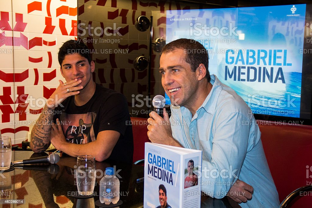 Surfer Gabriel Medina launches book with his biography stock photo