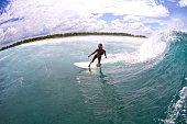 Surfer girl at Christmastime