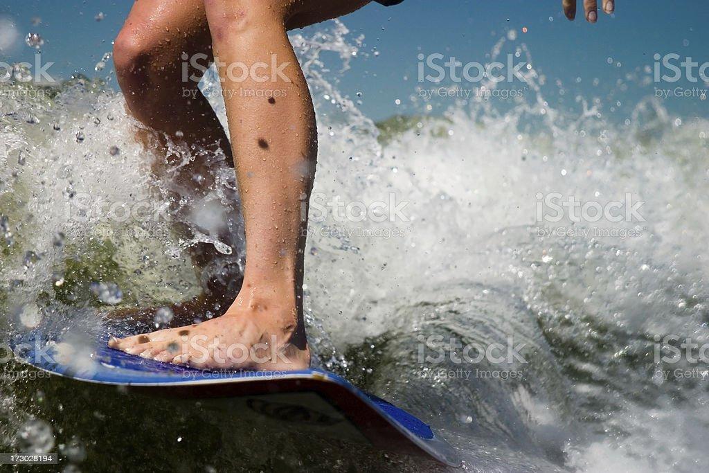 Surfer Girl's feet stock photo