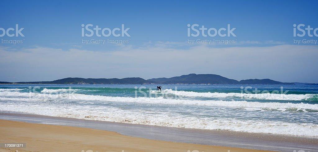 Surfer in Brazil stock photo