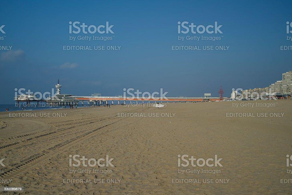 Surfer in Scheveningen stock photo