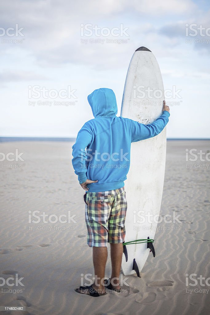 Surfer in the Desert royalty-free stock photo