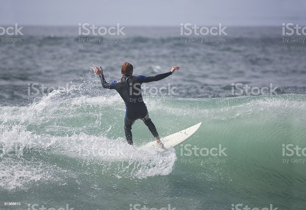 surfer in the wave royalty-free stock photo