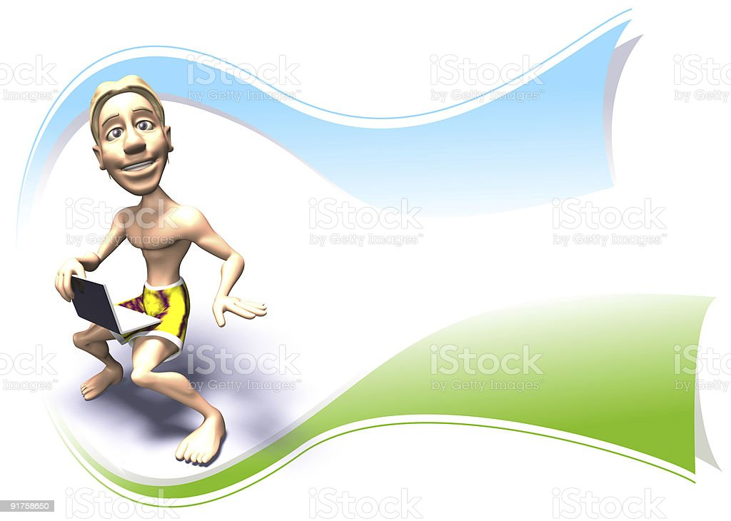 Surfer Logo royalty-free stock photo