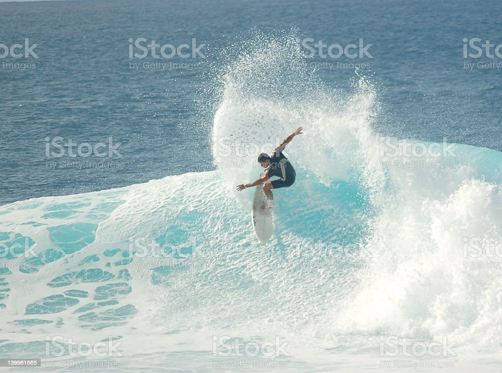 Surfer Move Spray stock photo