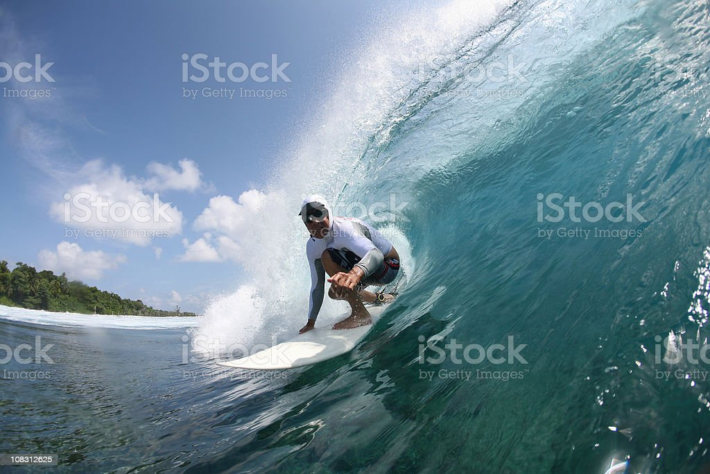 surfer on a wave royalty-free stock photo