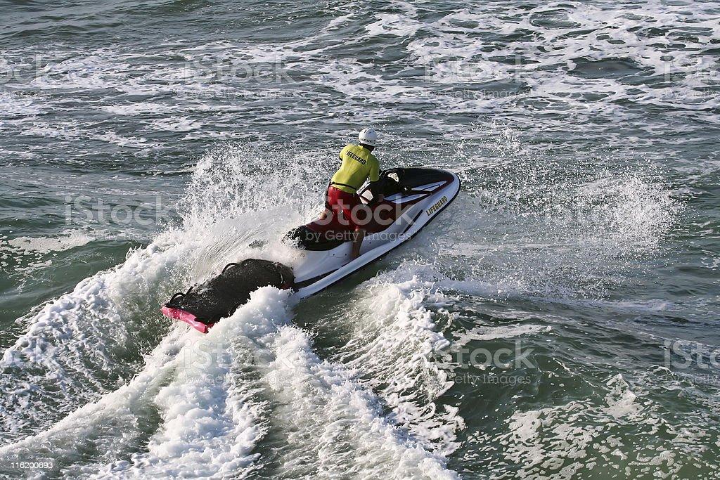 Surfer Rescue stock photo