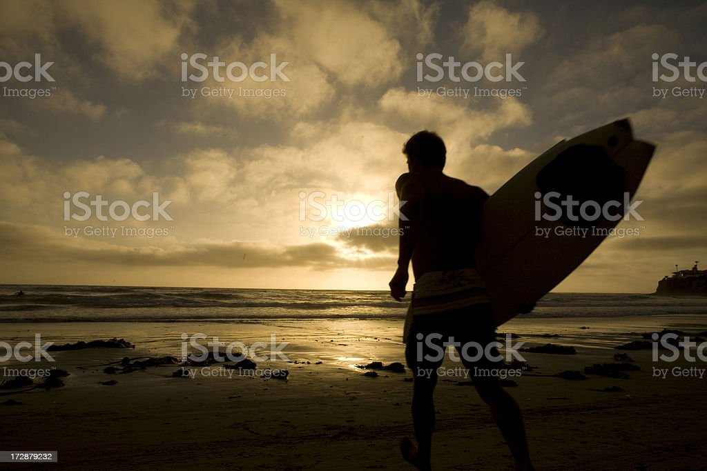 Surfer Silhouette Male royalty-free stock photo