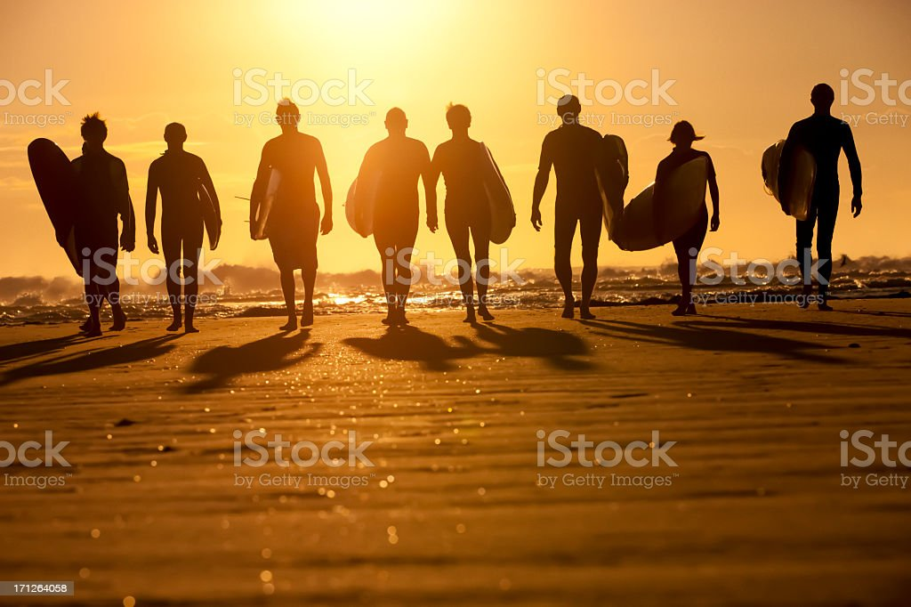 Surfer Silhouette royalty-free stock photo