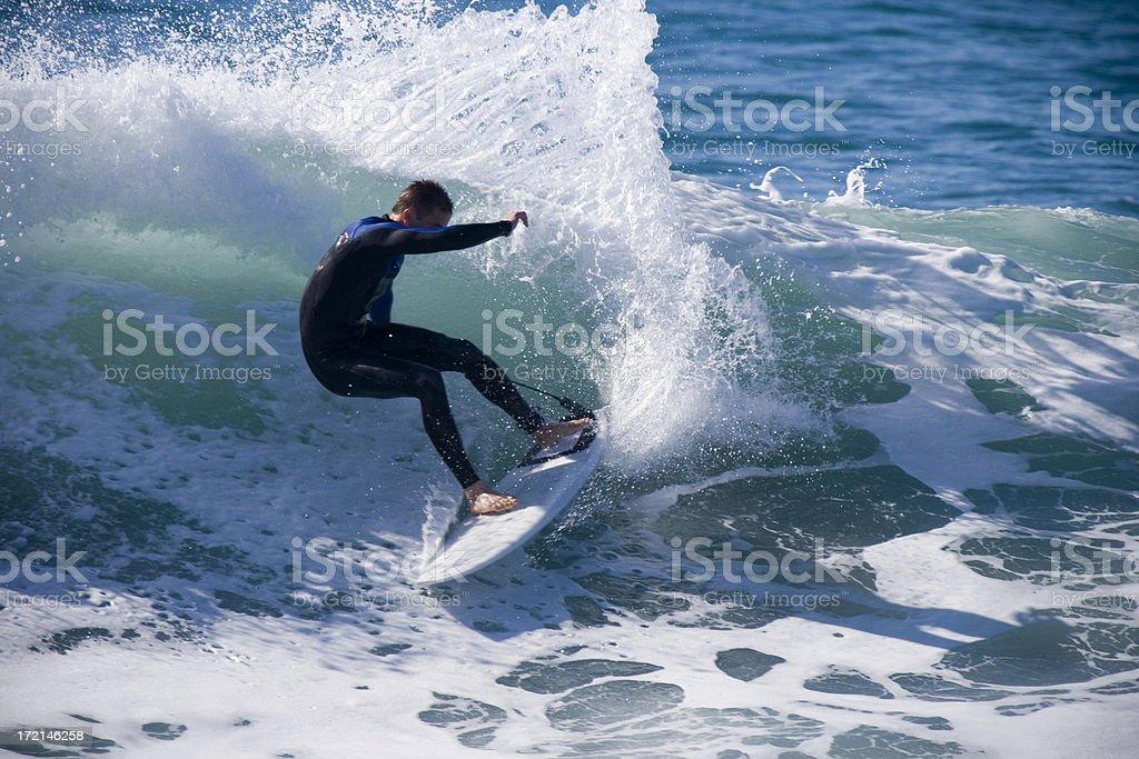 Surfer Spray Closeup royalty-free stock photo