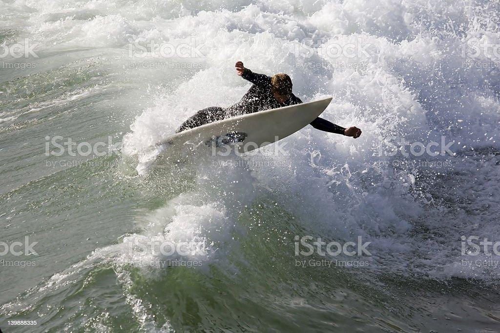 Surfer Stretch stock photo