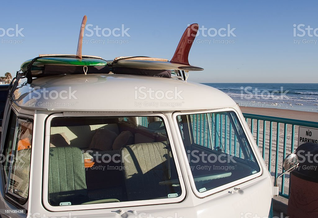 Surfer Van stock photo