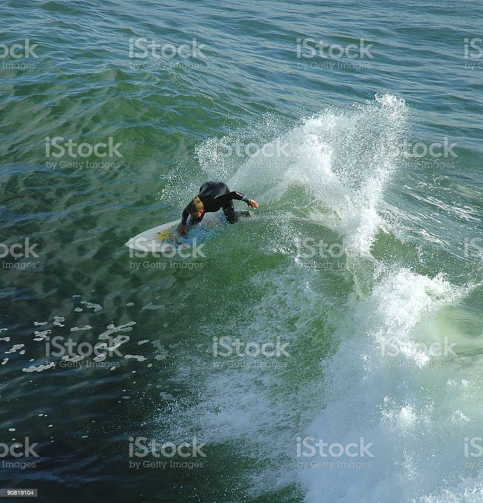 Surfer with spray royalty-free stock photo