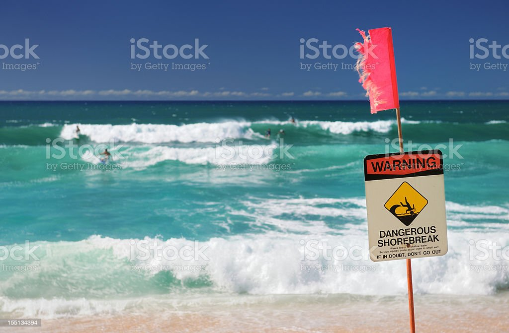 Surfers at North Shore, Oahu, Hawaii (XXXL) royalty-free stock photo