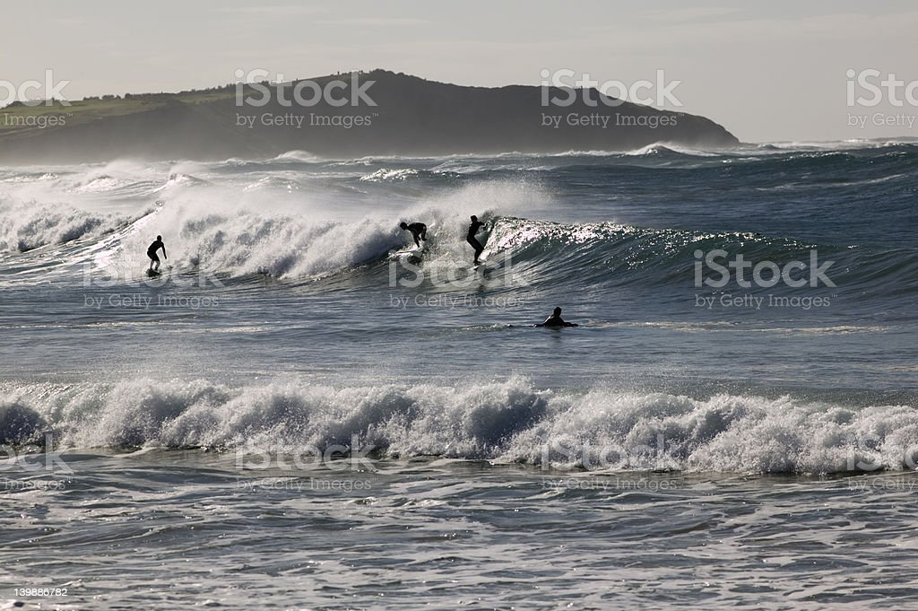 Surfers, Dee Why, Sydney royalty-free stock photo