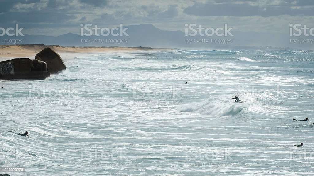 surfers @ lapiste stock photo