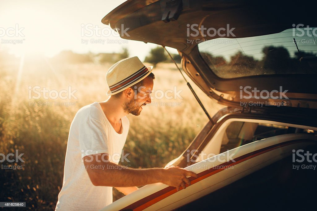 Surfer's lifestyle stock photo