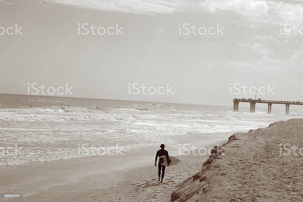 Surfer man royalty-free stock photo