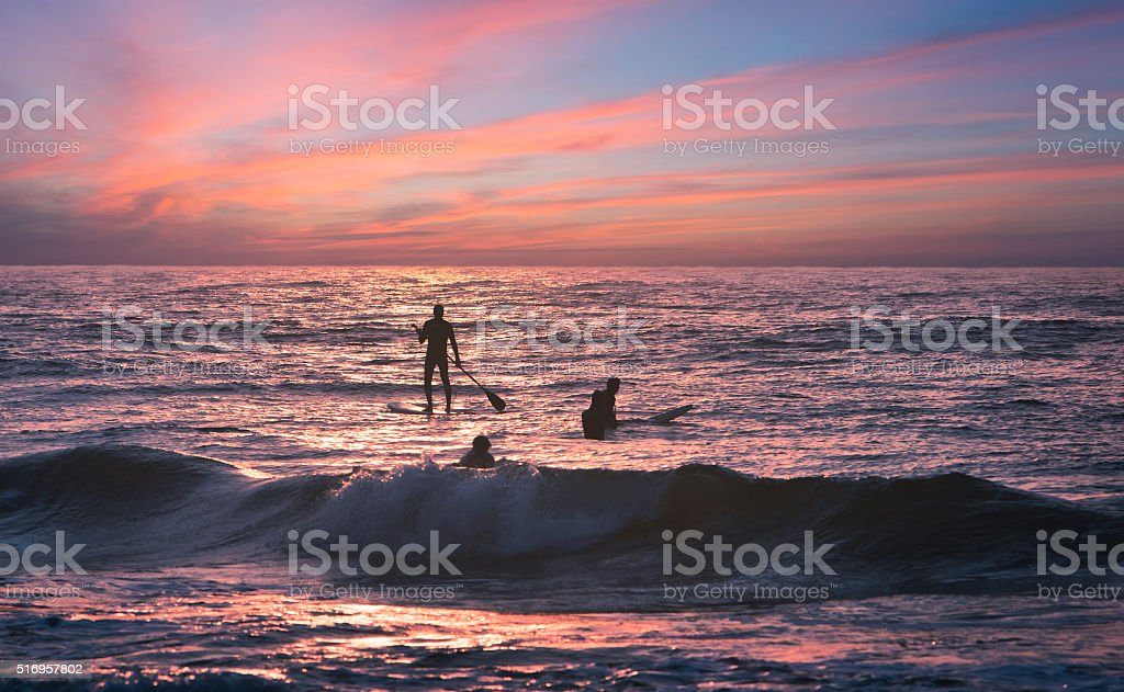 Surfer auf Sylt am Strand stock photo