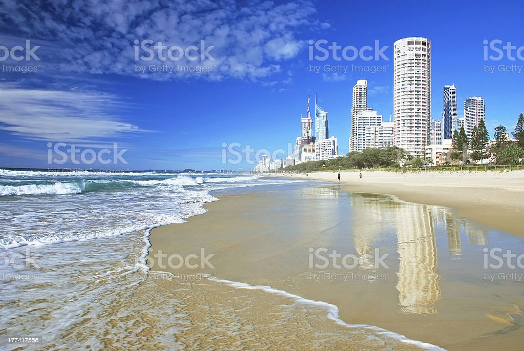 Surfers paradise beach, Gold coast stock photo