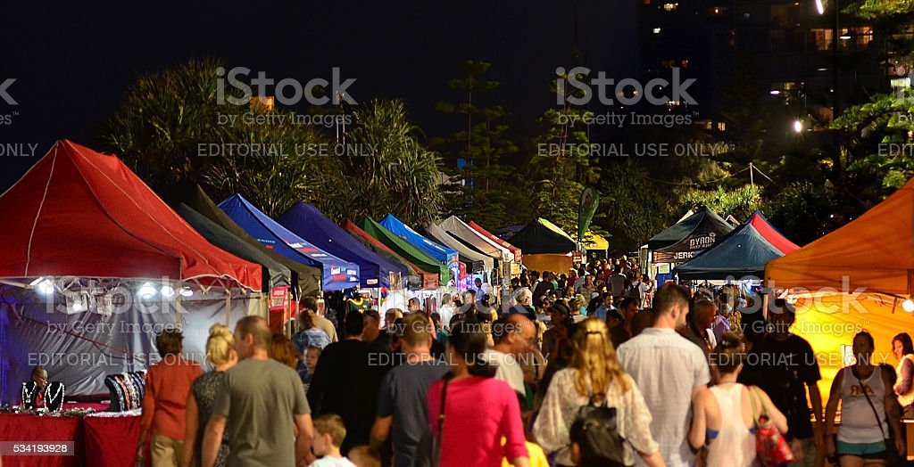 Surfers Paradise Beachfront Markets - Australia stock photo