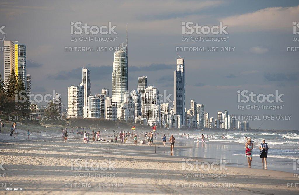 Surfers Paradise, Gold Coast, Australia royalty-free stock photo