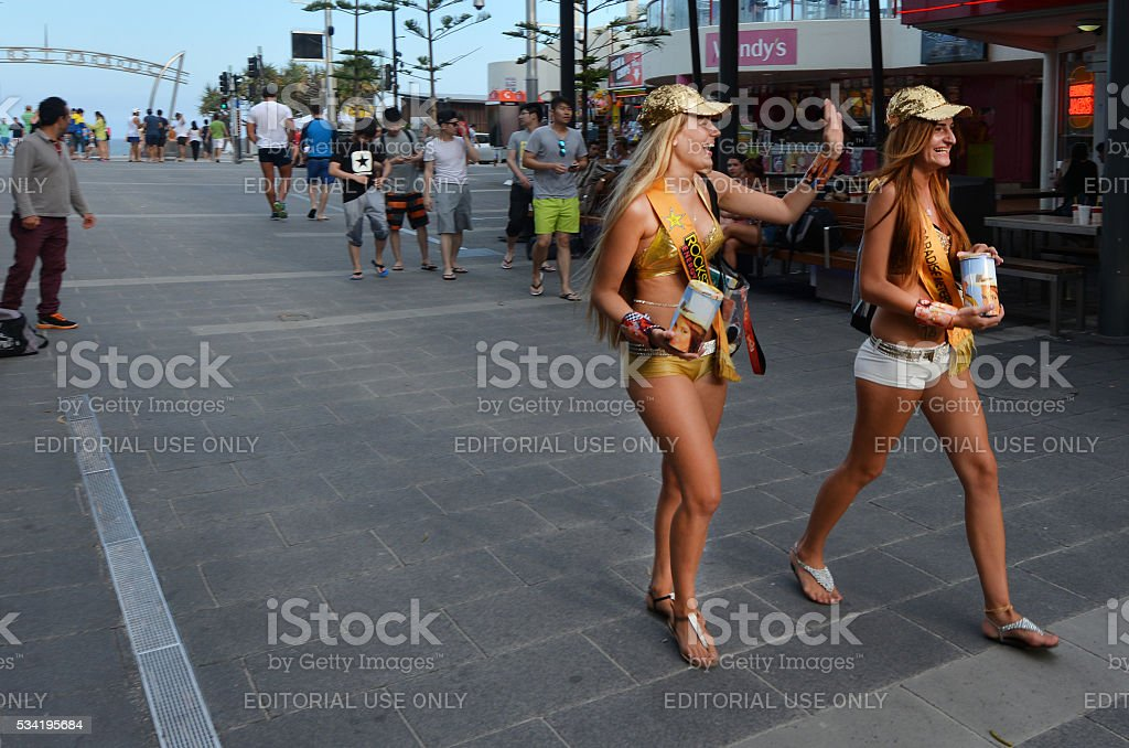 Surfers Paradise Meter Maids in Gold Coast Australia stock photo