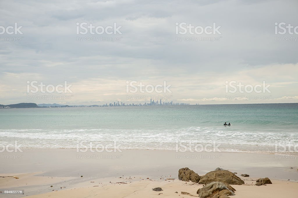 Surfer's Paradise skyline stock photo