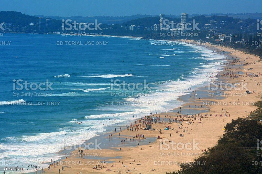 Surfers Paradise Skyline -Queensland Australia stock photo