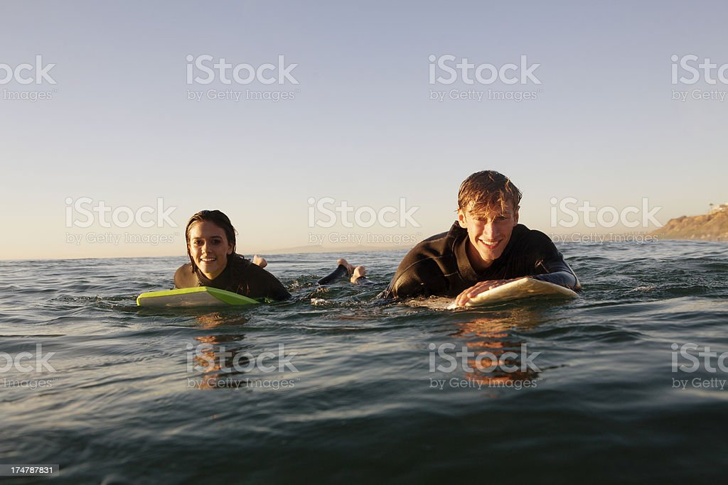 Surfers royalty-free stock photo