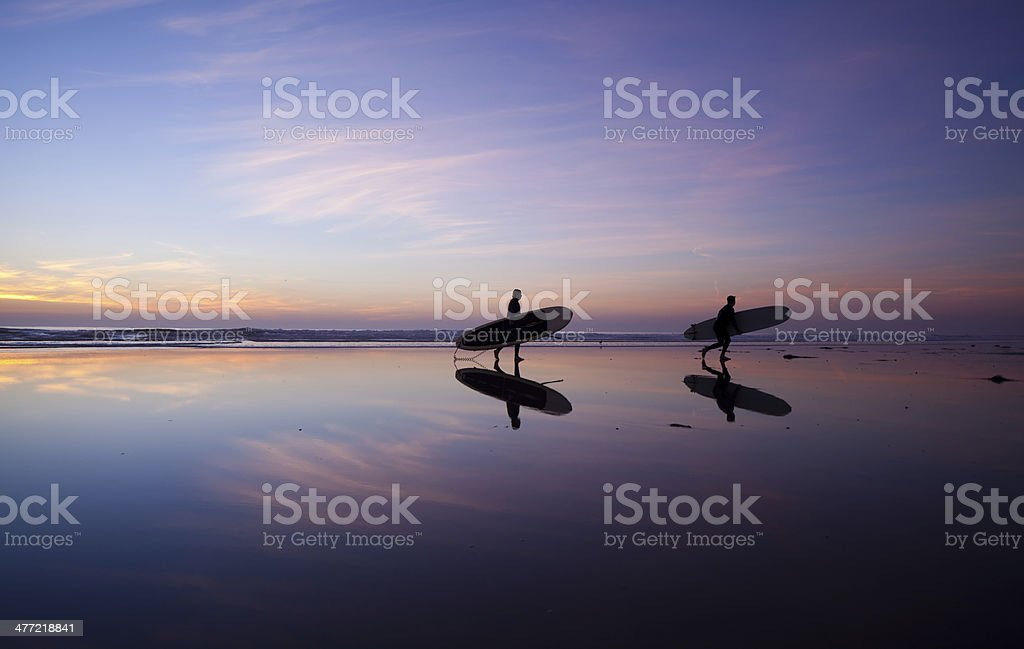 Surfers reflection royalty-free stock photo