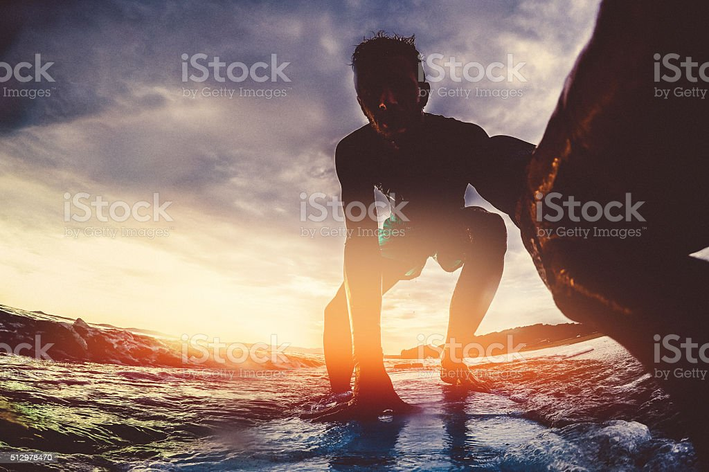 Surfer's selfie stock photo